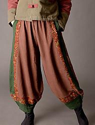 abordables -Mujer Básico Chinos Pantalones - Bloques
