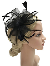 cheap -Women's Fashion / Elegant Hair Clip / Fascinator - Solid Colored Bow / Mesh