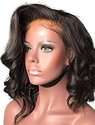 cheap -Synthetic Wig / Synthetic Lace Front Wig Curly Layered Haircut Synthetic Hair With Baby Hair / Soft / Heat Resistant Black / Dark Brown Wig Women's Short Lace Front Wig / Yes / Natural Hairline