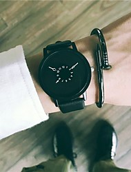 cheap -Men's Dress Watch / Wrist Watch Chinese New Design / Cool Leather Band Vintage / Casual Black / White / Stainless Steel / SSUO 377