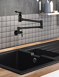 Недорогие -кухонный смеситель / Ванная раковина кран - Две ручки одно отверстие Окрашенные отделки Горшок Filler Монтаж на стену