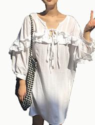cheap -Women's Going out / Beach Slim Sheath Dress Shirt Collar