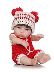 baratos -NPKCOLLECTION Bonecas Reborn Bebês Meninas 12 polegada Silicone de corpo inteiro / Vinil - Olhos Castanhos de Implantação Artificial de Criança Para Meninas Dom
