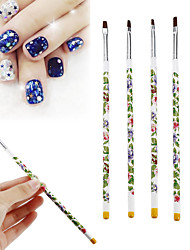 cheap -Five-piece Suit Nail Art Tool Nail Brushes Colorful nail art Manicure Pedicure Retro Daily Wear / Festival