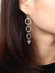 cheap -Women's Long Drop Earrings - Stylish, Luxury, Trendy Gold / Silver For Gift / Daily