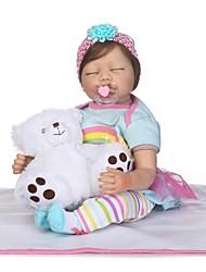 Недорогие -NPKCOLLECTION Куклы реборн Дети 24 дюймовый Силикон - как живой Детские Девочки Подарок