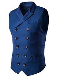 cheap -Men's Business Basic Vest-Solid Colored