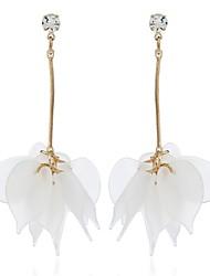 cheap -Women's Crystal Drop Earrings - Leaf European, Sweet Light Blue / Light Brown / Light Green For Gift / Daily