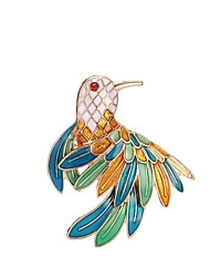 abordables -Femme Sculpture Broche - Oiseau Elégant, Classique Broche Or Pour Quotidien