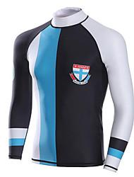 baratos -Dive&Sail Homens Anti Atrito SPF50, Proteção Solar UV, Térmico / Quente Tactel / Elastano / Lycra Manga Longa Roupa de Banho Roupa de Praia Anti Atrito / Blusas Natação / Mergulho / Snorkeling