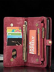 Недорогие -Кейс для Назначение Huawei P20 / P20 Pro Кошелек / Бумажник для карт / Флип Чехол Однотонный Твердый Кожа PU для Huawei P20 / Huawei P20 Pro