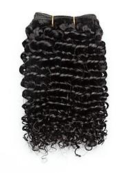 Недорогие -3 Связки Бразильские волосы Кудрявый 8A Натуральные волосы Подарки Аксессуары для костюмов Пучок волос 8-28 дюймовый Черный Естественный цвет Ткет человеческих волос Машинное плетение