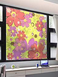 cheap -Window Film & Stickers Decoration Matte / Contemporary Flower / Floral PVC(PolyVinyl Chloride) Window Sticker / Matte