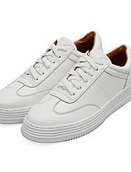 d258c81e5fb Mujer Zapatos PU Primavera Confort Zapatillas de deporte Tacón Plano Blanco    Rojo