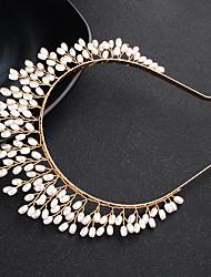 baratos -Liga Headbands com Pérolas 1 Peça Casamento / Roupa Diária Capacete
