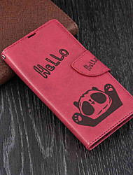 cheap -Case For Sony Sony Xperia XA2 / Xperia L2 Wallet / Card Holder / with Stand Full Body Cases Panda Hard PU Leather for Xperia XA2 / Xperia L2