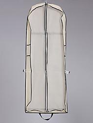 baratos -Uma Camada Modern Véus de Noiva Saco de Roupa com Cor Única 59,06 in (150cm) Misto de Poliéster e Algodão / Corte Liso