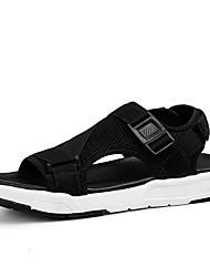 billige -Herre Sko Elastisk stof Sommer Komfort Sandaler Sort / Grå