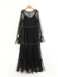 cheap -women's chiffon dress mesh knee-length