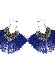 abordables -Mujer Largo Pendientes colgantes - Vintage, Étnico, Moda Arco Iris / Rojo / Azul Para Fiesta / Noche / Fiesta de Noche