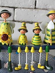 baratos -4pçs Resina / Madeira Moderno / Contemporâneo para Decoração do lar, Home Decorações Presentes