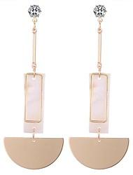 abordables -Mujer Cristal Pendientes colgantes - Elegante Dorado Para Fiesta / Noche / Noche