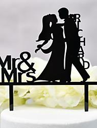 economico -Decorazioni torte Classico / Matrimonio nuovo / Incavato Acryic / Poliestere Matrimonio / Anniversario con Acrilico 1 pcs OPP