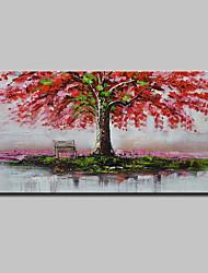 Недорогие -mintura® ручная роспись абстрактные красные деревья картины маслом на холсте современные картины настенного искусства для домашнего украшения, готовые повесить