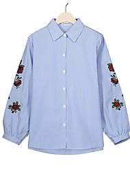 cheap -women's work shirt - floral shirt collar