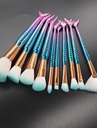 cheap -10-Pack Makeup Brushes Professional Makeup Brush Set / Blush Brush / Eyeshadow Brush Nylon fiber / Fiber Soft / Full Coverage Plastic