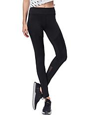 billiga Sport och friluftsliv-BARBOK Dam Nät / Lappverk Yoga byxor - Svart, Grå sporter Mode Mesh Hög midja Cykling Tights / Leggings Löpning, Gym Sportkläder Tränare,
