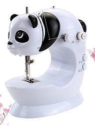 cheap -Sewing Machine, Panda Appearance, Panda Sewing Machine.Portable Mini Home Electric Sewing Machine Two-Wire Two-Speed Pedaling,Small Desk lamp,Tangents