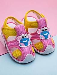 Недорогие -Девочки Обувь Сетка Весна лето Обувь для малышей Сандалии для Дети Бежевый / Синий / Розовый