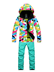 cheap -Women's Ski Jacket with Pants Thermal / Warm, Breathability, Skiing Ski / Snowboard / Winter Sports Polyester / Cotton Blend Clothing Suit Ski Wear