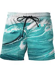 baratos -Homens Calcinhas, Shorts & Calças de Praia - Geométrica, Estampado Bermuda de Natação