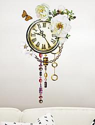 abordables -Autocollants muraux décoratifs - Autocollants avion A fleurs / Botanique Salle de séjour / Chambre à coucher / Salle de bain
