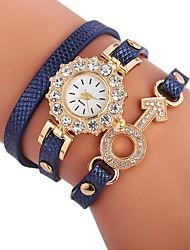 Недорогие -Жен. Часы-браслет Китайский Повседневные часы / Милый / Имитация Алмазный PU Группа Кулоны / Богемные Черный / Белый / Синий