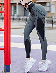 cheap -Women's Daily / Going out Sporty / Basic Legging - Color Block Mid Waist