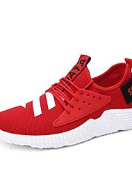 abordables -Homme Chaussures Tulle Eté Moccasin / Semelles Légères Chaussures d'Athlétisme Course à Pied / Marche Blanc / Noir / Rouge
