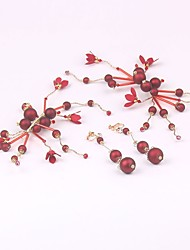 cheap -Alloy Hair Clip with Acrylic / Flower 1 Pair Wedding / Special Occasion Headpiece