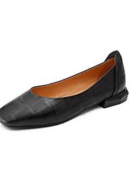 baratos -Mulheres Sapatos Pele de Carneiro Verão Conforto Mocassins e Slip-Ons Salto Baixo Ponta quadrada Preto / Amarelo