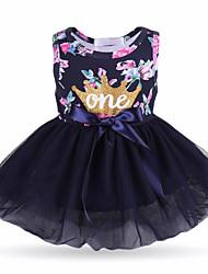 cheap -Baby Girls' Active Geometric Print Sleeveless Cotton Dress