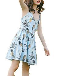 baratos -Mulheres Chifon Vestido Fruta Acima do Joelho