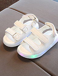 cheap -Boys' / Girls' Shoes PU(Polyurethane) Spring / Fall Light Up Shoes Sandals Magic Tape / LED for Black / Yellow / Pink