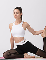 cheap -Women's Patchwork / Criss Cross Waist Yoga Pants - Black, Light Red, Blue Sports Solid Color, Fashion Mesh High Rise Tights Running, Fitness, Dance Activewear Moisture Wicking, Breathable, Soft High