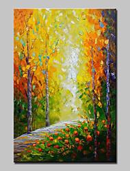 Недорогие -mintura® ручная роспись современных абстрактных деревьев деревьев ножей пейзаж живопись маслом на холсте картина на стенах для домашнего декора, готовая повесить