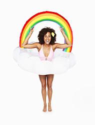 Недорогие -Радужный Надувные игрушки и бассейны PVC Прочный, Надувной Плавание / Водные виды спорта для Взрослые 90*85*35 cm