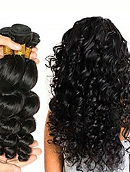 cheap -3 Bundles Malaysian Hair Wavy Human Hair Natural Color Hair Weaves / One Pack Solution / Human Hair Extensions 8-28 inch Human Hair Weaves Soft / Easy dressing / Best Quality Natural Color Human Hair
