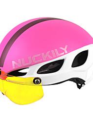 Недорогие -Nuckily Взрослые Велошлем с защитной маской 8 Вентиляционные клапаны Вентиляция Формованный с цельной оболочкой прибыль на акцию ПК Виды спорта Велосипедный спорт / Велоспорт Велоспорт -