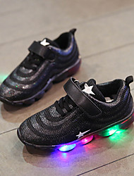 cheap -Girls' Shoes PU(Polyurethane) Spring & Summer Comfort Athletic Shoes Walking Shoes Sequin / LED for Teenager White / Black / Pink